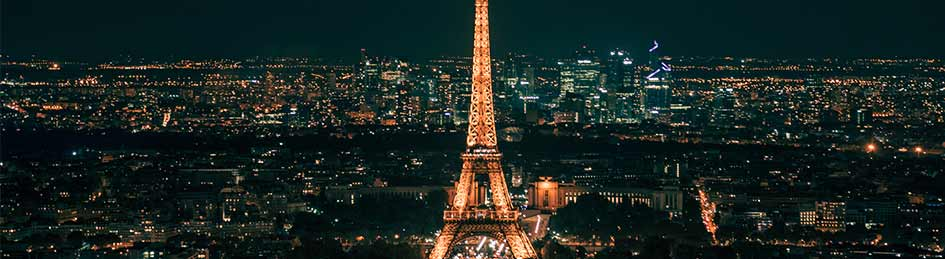 best night view eiffel tower